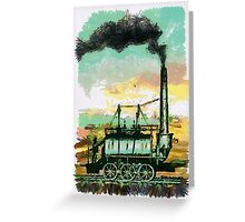 Industrial Revolution - Steam Elephant Greeting Card