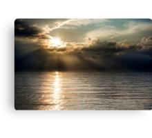 Apocalyptic sunset Canvas Print