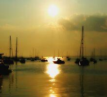As the sun slowly sets by John Linton