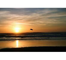 Gliding through the sunset Photographic Print