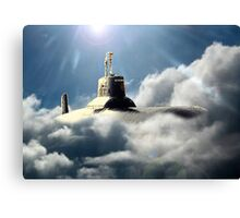 Sub in clouds Canvas Print