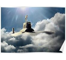 Sub in clouds Poster