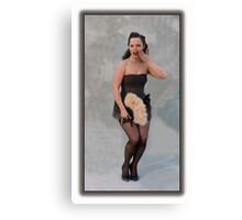 Burlesque dancer Canvas Print