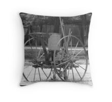 Historic Farm Plow Throw Pillow