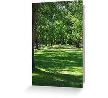 In Line with nature Greeting Card