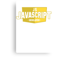 javascript developer Canvas Print