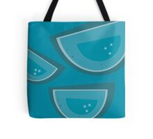 Retro Tulip - Turquoise Tote Bag