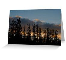 Santiam Sunset Greeting Card