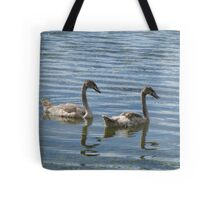 teenage swans Tote Bag