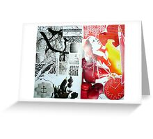 black/red Greeting Card