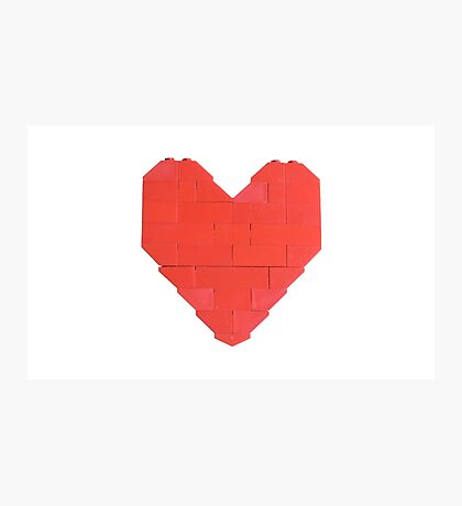 LEGO Valentine - White Photographic Print
