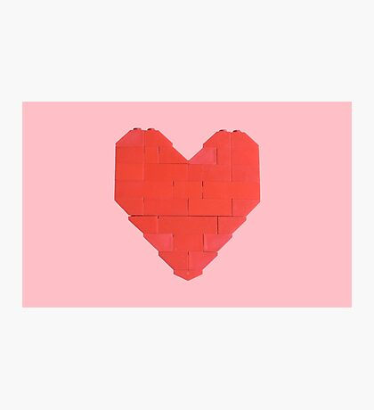 LEGO Valentine - Pink Photographic Print
