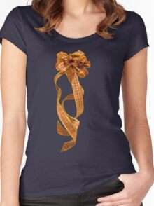 Christmas Ribbon Women's Fitted Scoop T-Shirt