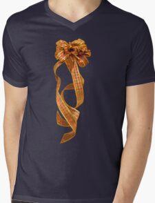Christmas Ribbon Mens V-Neck T-Shirt