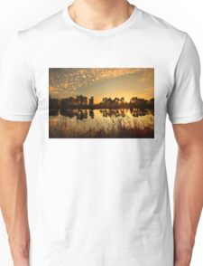 Sunset at Kaiafas lake Unisex T-Shirt