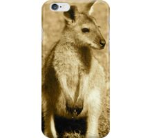 Sepia Wallaby iPhone Case/Skin