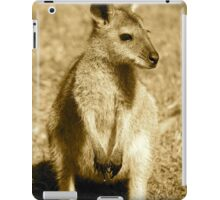 Sepia Wallaby iPad Case/Skin