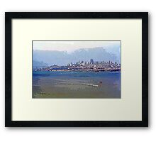 Painterly San Francisco (City and Bay) Framed Print
