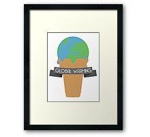 GLOOBALL WORNTING Framed Print