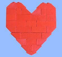 LEGO Valentine - Blue by thereeljames