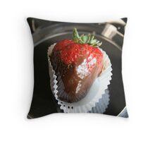 Chocolate Covered Strawberries III Throw Pillow