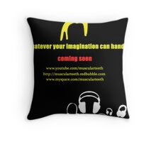 Promote yourself comp - MuscularTeeth Poster Throw Pillow