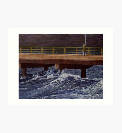 """Fear of the Sea"" 71x93cm, oil on linen. Art Print"