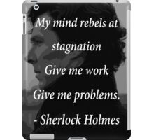 Sherlock Benedict Cumberbatch Quote iPad Case/Skin