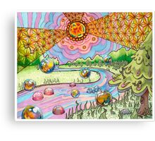 "Trippy Forest ""Return of the Voodoo Child"" Canvas Print"