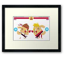 Hadouken Framed Print