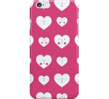 Pink Valentines Heart Pattern iPhone Case/Skin
