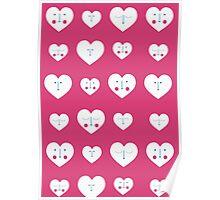 Pink Valentines Heart Pattern Poster
