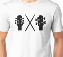 Guitar, Bass and Drums Unisex T-Shirt