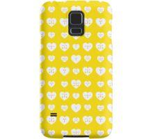 Yellow Valentines Heart Pattern Samsung Galaxy Case/Skin
