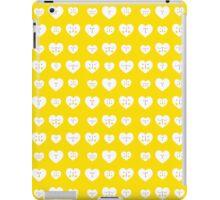 Yellow Valentines Heart Pattern iPad Case/Skin