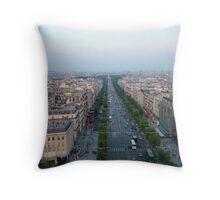 Champs Elysees Throw Pillow