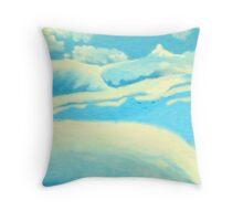 Blue Landscape - Rhian B Throw Pillow