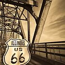 Route 66. Chain of Rocks Bridge across Mississippi River by Alan Copson