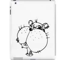The Hamster is a wild punk rocker iPad Case/Skin