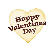 Heart Shaped Happy Valentine Day Text Design Photographic Print