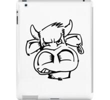 Raging bull with earring iPad Case/Skin