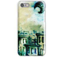 La luna sobre la ciudad iPhone Case/Skin