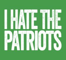 I Hate The Patriots - New York Jets T-Shirt - Show Your Team Spirit - Text Design - Haters Gonna Hate by BeefShirts