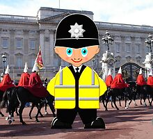 "London Bobby (No 2 in the ""Toon Boy"" series) at Buckingham Palace - all products by Dennis Melling"