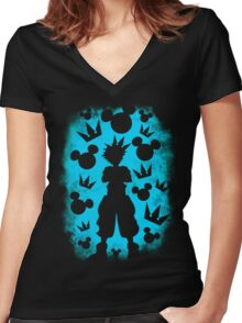 a knight Women's Fitted V-Neck T-Shirt