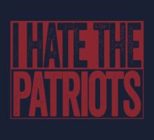 I Hate The Patriots - New York Giants T-Shirt - Show Your Team Spirit - Red Box Design - Haters Gonna Hate T-Shirt