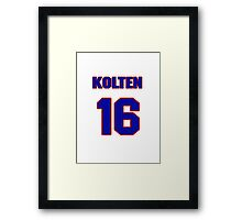 National baseball player Kolten Wong jersey 16 Framed Print