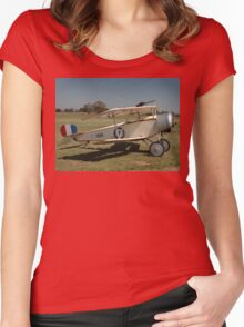 Nieuport Scout @ Melton Airshow, Australia 2010 Women's Fitted Scoop T-Shirt
