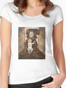 The old woman with the baby Women's Fitted Scoop T-Shirt