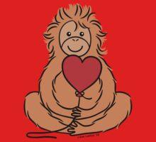Lovable Orangutan One Piece - Short Sleeve